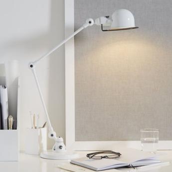 Lampe de bureau signal 2 bras blanc o16cm h60cm jielde normal