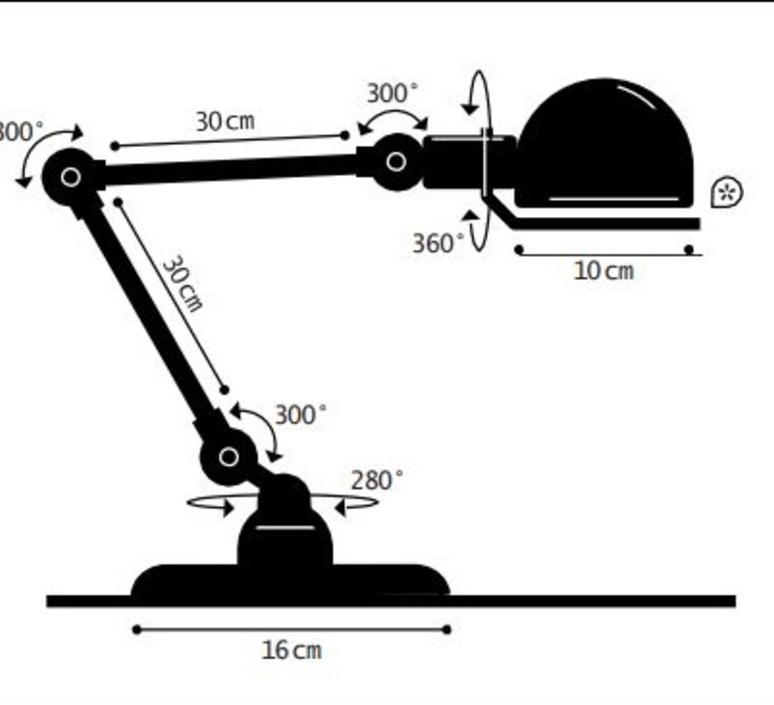 Signal 2 bras jean louis domecq lampe de bureau desk lamp  jielde si333grgs  design signed nedgis 108177 product