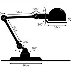 Signal 2 bras jean louis domecq lampe de bureau desk lamp  jielde si333grgs  design signed nedgis 108177 thumb