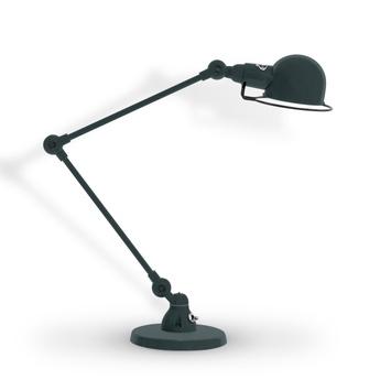 Lampe de bureau signal 2 bras gris granit mat o16cm h60cm jielde normal