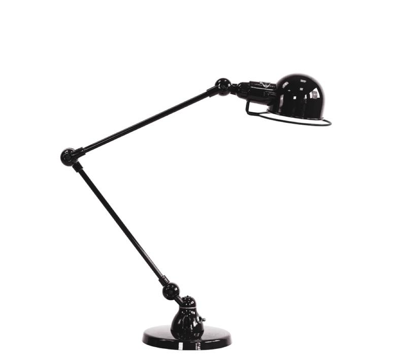 Signal 2 bras jean louis domecq lampe de bureau desk lamp  jielde si333 ral9011  design signed 35694 product