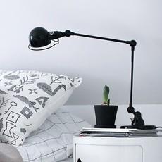 Signal 2 bras jean louis domecq lampe de bureau desk lamp  jielde si333 ral9011  design signed 35696 thumb
