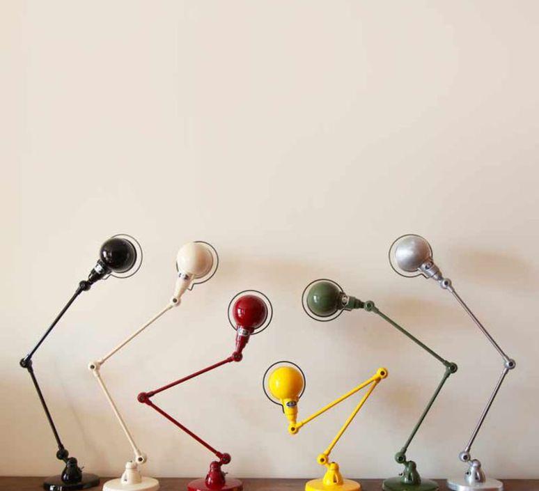 Signal 2 bras jean louis domecq lampe de bureau desk lamp  jielde si333 ral9011  design signed 53564 product