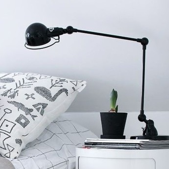 Lampe de bureau signal 2 bras noir o16cm h60cm jielde normal