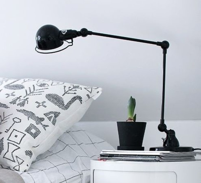 Desk Lamp Signal 2 Arms Black O16cm H60cm Jielde Nedgis Lighting