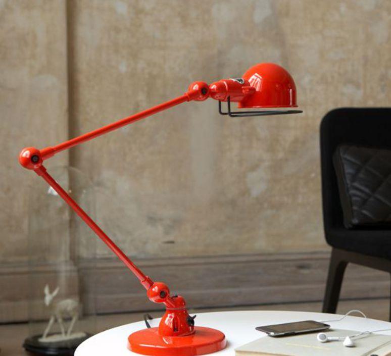 Signal 2 bras jean louis domecq lampe de bureau desk lamp  jielde si333 ral3020  design signed 35771 product