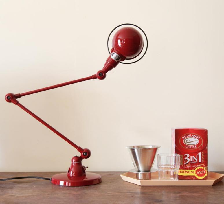 Signal 2 bras jean louis domecq lampe de bureau desk lamp  jielde si333 ral3020  design signed 35773 product