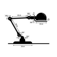 Signal 2 bras jean louis domecq lampe de bureau desk lamp  jielde si333 ral3020  design signed 35777 thumb