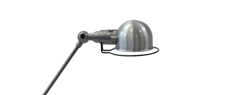 Lampe de bureau signal 2 bras si333 acier brosse brillant o16cm h60cm jielde normal