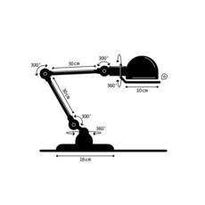 Signal 2 bras jean louis domecq lampe de bureau desk lamp  jielde si333 ral9011  design signed 57997 thumb