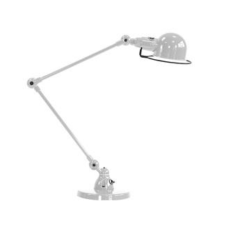 Lampe de bureau signal 2 bras si333 gris argent o16cm h60cm jielde normal
