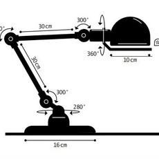 Signal 2 bras jean louis domecq lampe de bureau desk lamp  jielde si333 ral9011  design signed 99031 thumb