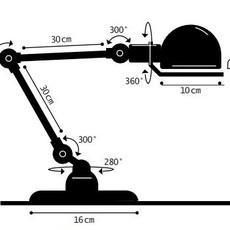 Signal 2 bras jean louis domecq lampe de bureau desk lamp  jielde si333 ral9011  design signed 107648 thumb