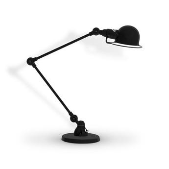 Lampe de bureau signal 2 bras si333 noir mat o16cm h60cm jielde normal
