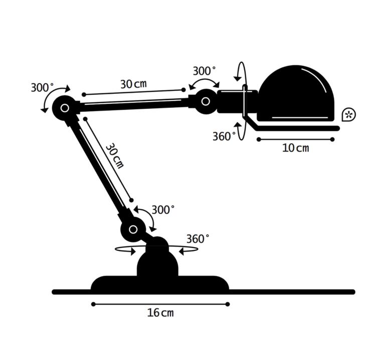 Signal 2 bras jean louis domecq lampe de bureau desk lamp  jielde si333 ral6019  design signed 35950 product