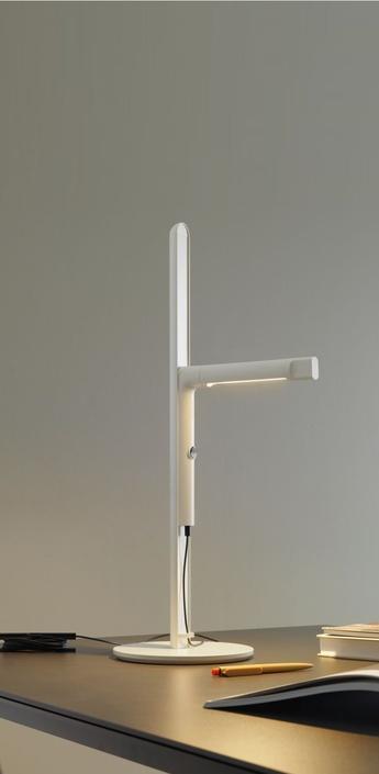 Lampe de bureau siptel led blanc h60cm fontana arte normal