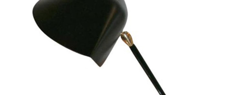Lampe de bureau tripode noir h35cm serge mouille normal