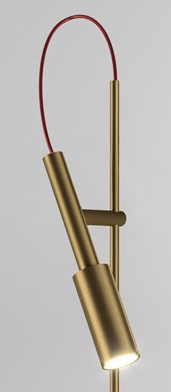 Lampe de bureau tubino plus bronze o10 4cm h48cm panzeri normal