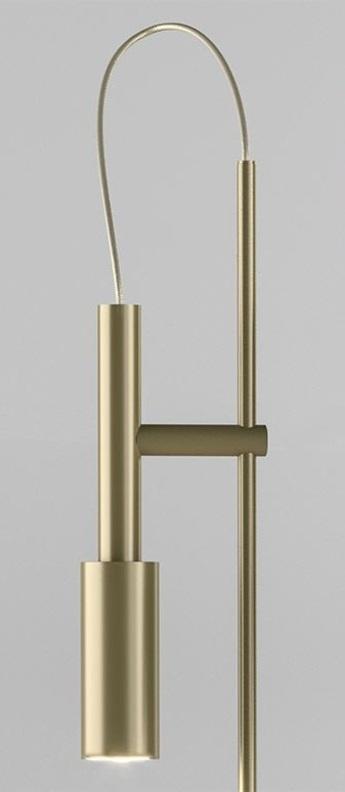 Lampe de bureau tubino plus champagne o10 4cm h48cm panzeri normal