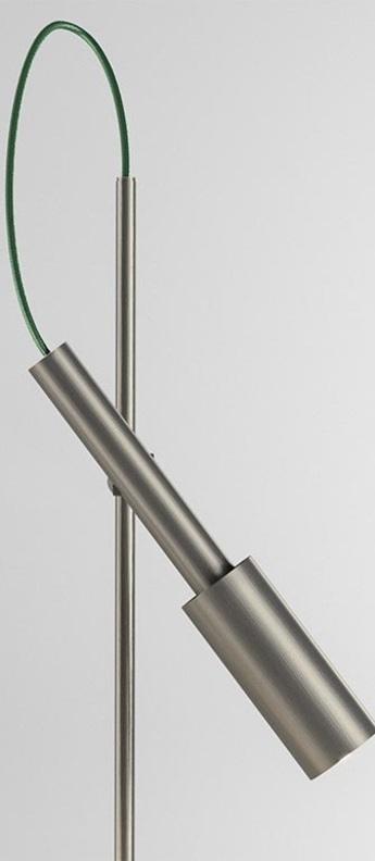 Lampe de bureau tubino plus titane o10 4cm h48cm panzeri normal