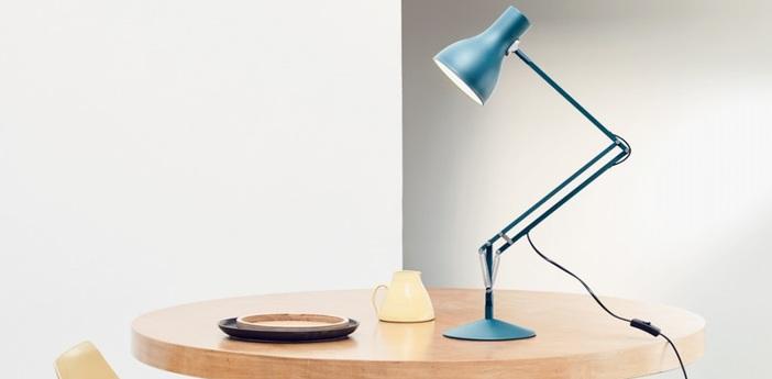 Lampe de bureau type 75 bleu saxon margaret howell h57cm anglepoise normal