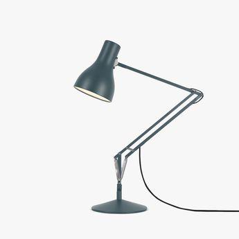 Lampe de bureau type 75 gris o14cm h66cm anglepoise normal