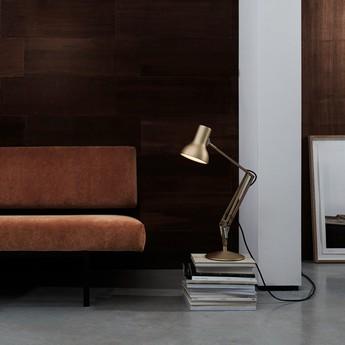 Lampe de bureau type 75 mini or metallic h50cm anglepoise normal