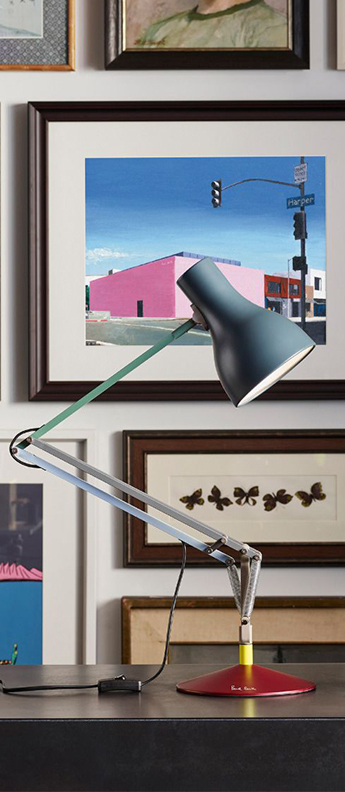 Lampe de bureau type 75 paul smith edition four multicolore l44cm h57cm anglepoise normal