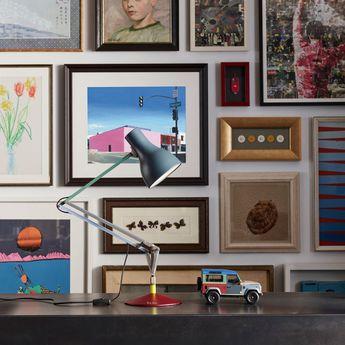 Lampe de bureau type 75 paul smith edition four multicolore l44cm h57cm anglepoise normal