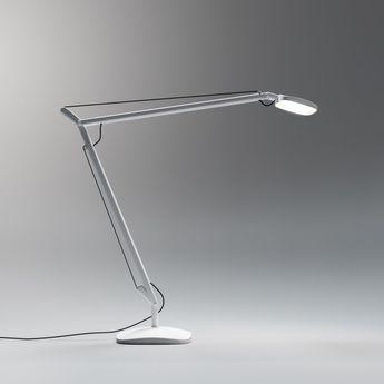 Lampe de bureau volee led blanc h64cm fontana arte normal