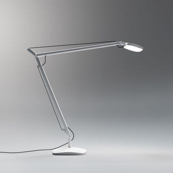 lampe de bureau vol e led blanc h64cm fontana arte luminaires nedgis. Black Bedroom Furniture Sets. Home Design Ideas