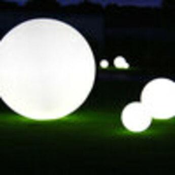 Lampe de jardin avec fixation au solglobo blanc mat ip55 o60cm slide normal