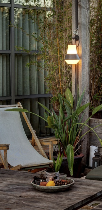 Lampe de jardin baladeuse cat blanc h32cm faro normal