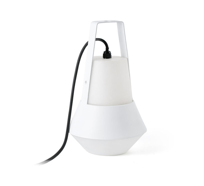 lampe de jardin baladeuse cat blanc h32cm faro luminaires nedgis. Black Bedroom Furniture Sets. Home Design Ideas
