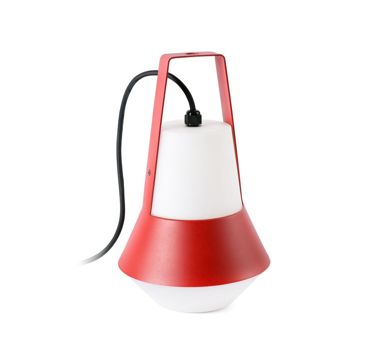 lampe de jardin baladeuse cat rouge h32cm faro luminaires nedgis. Black Bedroom Furniture Sets. Home Design Ideas