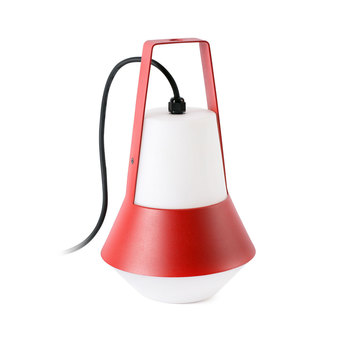 Lampe de jardin baladeuse cat rouge h32cm faro normal