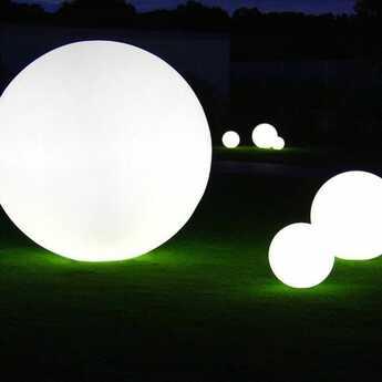 Lampe de jardin globo blanc mat ip55 o30cm slide normal