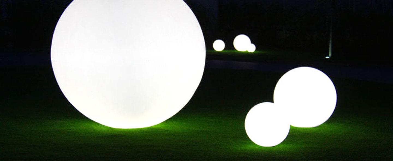 Lampe de jardin globo blanc o50cm slide normal
