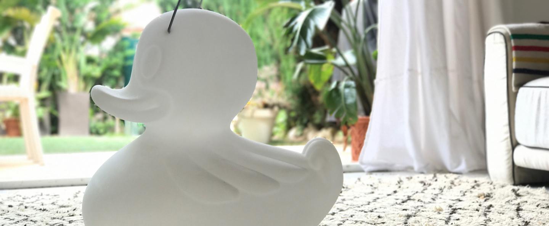 Lampe de sol d exterieur duck duck blanc led 290lm l50cm h50cm goodnight light normal