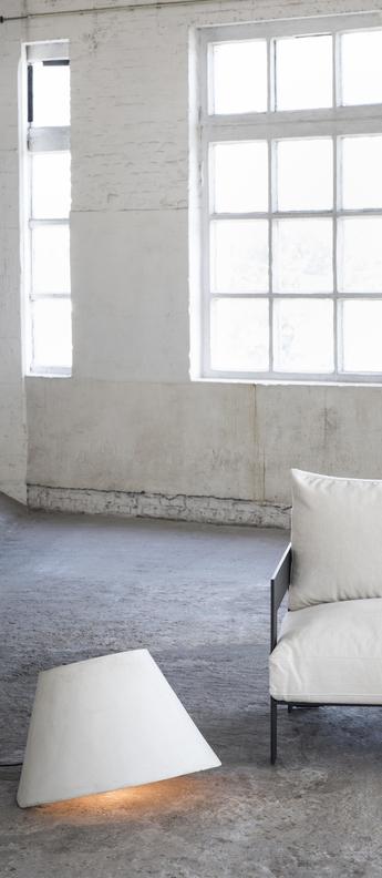 Lampe de sol d exterieur eaunophe l blanc led o60cm h50cm serax normal