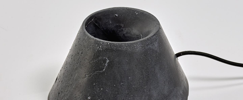 Lampe de sol eaunophe m noir led o50cm h35cm serax normal