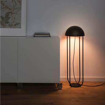 Lampe de sol jellyfish noir et or led o29cm h90cm faro normal