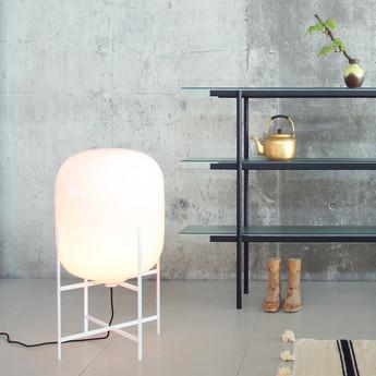 Lampe de sol oda medium blanc h85cm pulpo normal