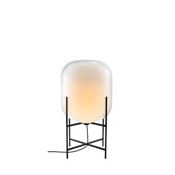 Lampe de sol oda medium blanc moonlight pied noir h85cm pulpo normal
