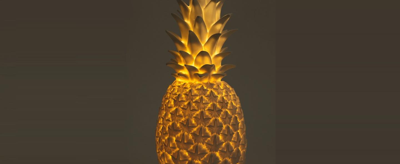 Lampe enfant ananas pina colada or h32cm goodnight light normal