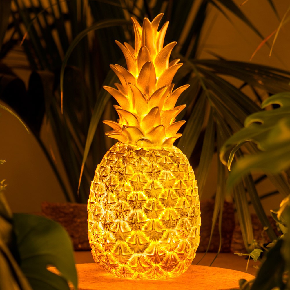 lampe enfant ananas pina colada or h32cm goodnight light luminaires nedgis. Black Bedroom Furniture Sets. Home Design Ideas