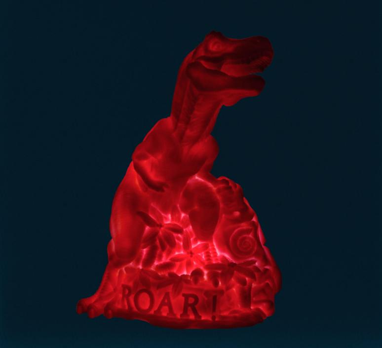 Dino roar marke newton goodnight light dino roar neon pink luminaire lighting design signed 25733 product