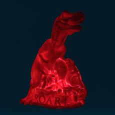 Dino roar marke newton goodnight light dino roar neon pink luminaire lighting design signed 25733 thumb