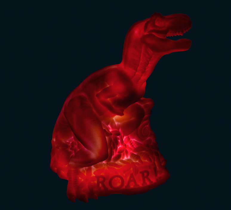 Dino roar marke newton goodnight light dino roar neon pink luminaire lighting design signed 25739 product