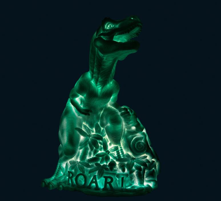 Dino roar marke newton goodnight light dino roar green mint luminaire lighting design signed 25715 product